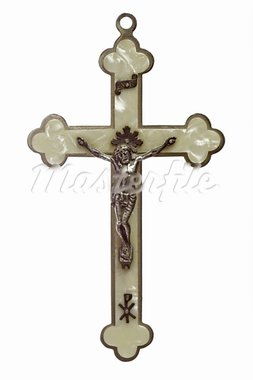 A a crucifix isolated on white background Stock Photo - Royalty-Free, Artist: Colour59                      , Code: 400-05136854