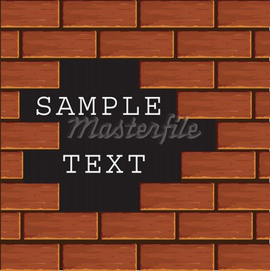 Background of a wall from a red brick. Vector Stock Photo - Royalty-Free, Artist: Gurbi4                        , Code: 400-05228349