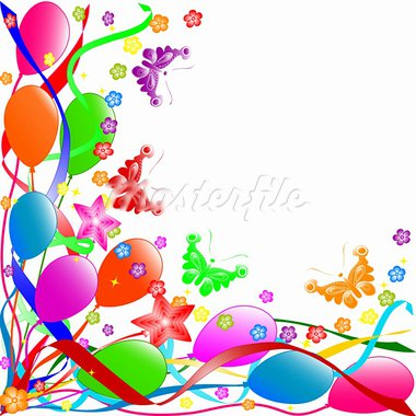 vector illustration of a Happy Birthday background Stock Photo - Royalty-Free, Artist: Trinochka                     , Code: 400-05249191