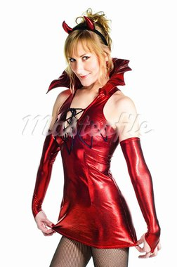 Red devil woman on white background Stock Photo - Royalty-Free, Artist: shivanetua                    , Code: 400-05281921