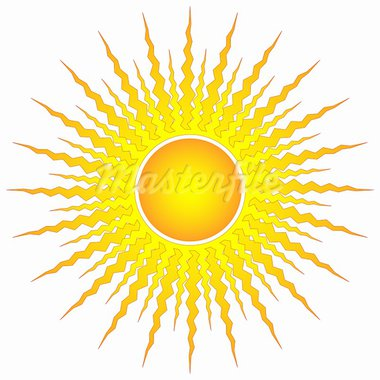 ornamental sun symbol on white Stock Photo - Royalty-Free, Artist: DLeonis                       , Code: 400-05308715