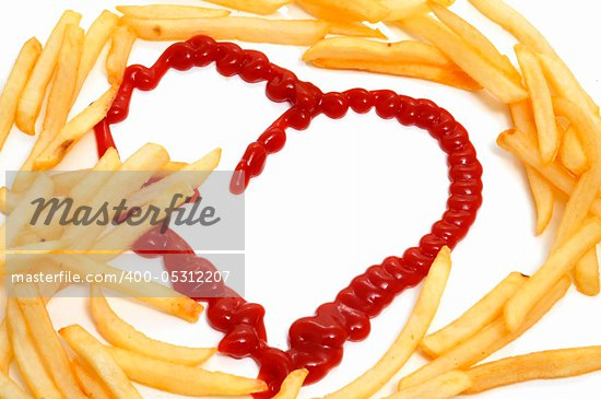 heart french fries