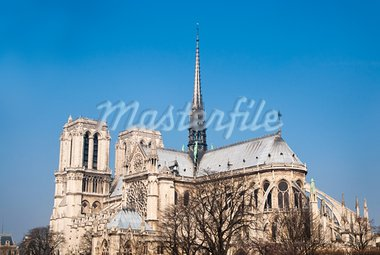 beautiful view Notre Dame Cathedral in paris france Stock Photo - Royalty-Free, Artist: ilolab                        , Code: 400-05316486