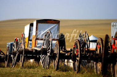 Migration transport in Inner Mongolia, use to migrate from one place to another. Stock Photo - Royalty-Free, Artist: kiankhoon                     , Code: 400-05328133
