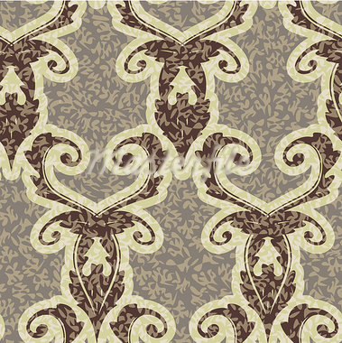 vector old style decorative seamless background pattern Stock Photo - Royalty-Free, Artist: 100ker                        , Code: 400-05346084