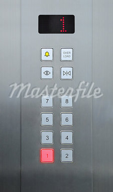 1 floor on elevator buttons Stock Photo - Royalty-Free, Artist: pariwatlp                     , Code: 400-05348130