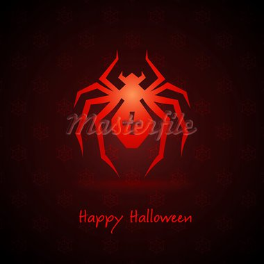 spider for halloween on background vector illustration Stock Photo - Royalty-Free, Artist: aleksangel                    , Code: 400-05355012