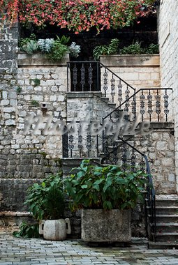 stairway in kotor montenegro old town Stock Photo - Royalty-Free, Artist: travelphotography             , Code: 400-05356650