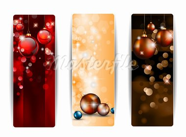 Christmas Vertical Banners with stunning  backgrounds full of glitter and glossy baubles. Stock Photo - Royalty-Free, Artist: DavidArts                     , Code: 400-05358911