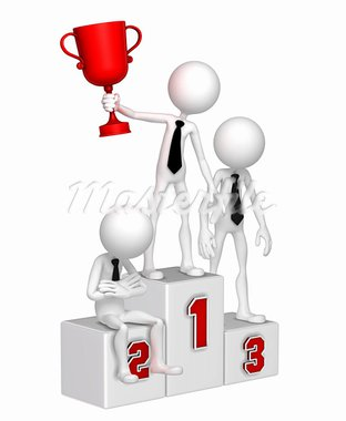 Business people on the podium. Conceptual business illustration. Isolated. Stock Photo - Royalty-Free, Artist: Kirill_M                      , Code: 400-05359368