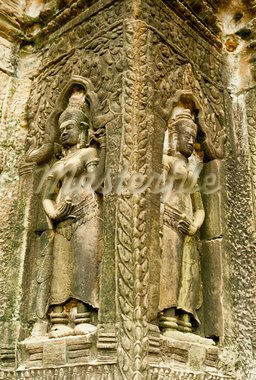 Smiling faces in the Temple of Bayon Stock Photo - Royalty-Free, Artist: Vixit                         , Code: 400-05360143
