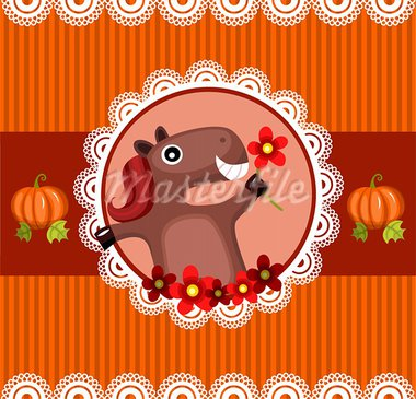 vector illustration of a halloween card Stock Photo - Royalty-Free, Artist: nem4a                         , Code: 400-05361848