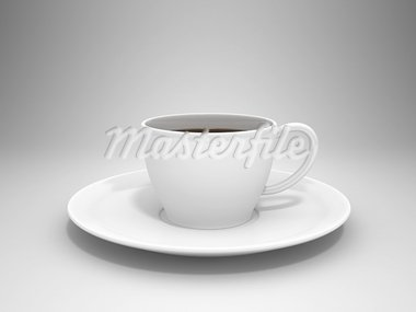Coffee cup on gray background Stock Photo - Royalty-Free, Artist: Enki                          , Code: 400-05368014