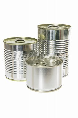 Tin Cans on White Background Stock Photo - Royalty-Free, Artist: homestudio                    , Code: 400-05370207