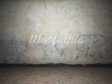 Illuminated dirty grunge wall Stock Photo - Royalty-Free, Artist: Enki                          , Code: 400-05373845