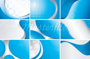 Illustration of abstract curve background set. Stock Photo - Royalty-Free, Artist: billyphoto2008                , Code: 400-05374521