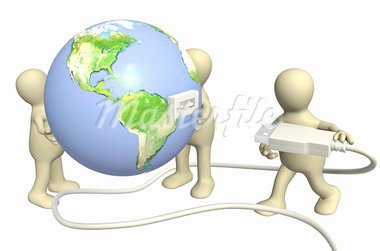 Conceptual 3d image - global communication Stock Photo - Royalty-Free, Artist: frenta                        , Code: 400-05375296