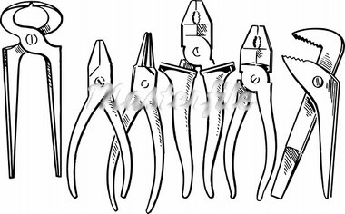 Pliers isolated on white Stock Photo - Royalty-Free, Artist: Denis_Barbulat                , Code: 400-05375611