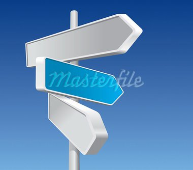 Directional Signs In Business Colors Stock Photo - Royalty-Free, Artist: UPimages                      , Code: 400-05377079
