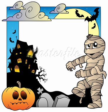 Frame with Halloween topic 3 - vector illustration. Stock Photo - Royalty-Free, Artist: clairev                       , Code: 400-05377366