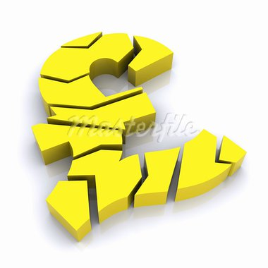 A Colourful 3d Rendered Pound Crunch Illustration Stock Photo - Royalty-Free, Artist: headoff                       , Code: 400-05378862