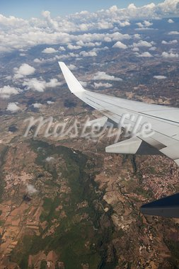 Airplane Wing view from Window during Flight Stock Photo - Royalty-Free, Artist: William87                     , Code: 400-05383125