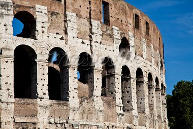 Colosseum in Rome with blue sky, landmark of the city Stock Photo - Royalty-Free, Artist: Perseomedusa                  , Code: 400-05384484