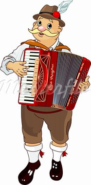 Oktoberfest Germany musician Playing  Accordion Stock Photo - Royalty-Free, Artist: Dazdraperma                   , Code: 400-05386323