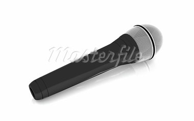 3d microphone on a white background Stock Photo - Royalty-Free, Artist: niranjancreatnz               , Code: 400-05386347