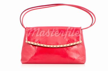 Woman red bag isolated on the white background. Stock Photo - Royalty-Free, Artist: homydesign                    , Code: 400-05386975