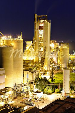 cement factory Stock Photo - Royalty-Free, Artist: leungchopan                   , Code: 400-05388115