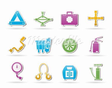 car and transportation equipment icons - vector icon set Stock Photo - Royalty-Free, Artist: stoyanh                       , Code: 400-05388427