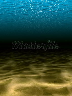 The underwater scene. 3d render Stock Photo - Royalty-Free, Artist: frenta                        , Code: 400-05388775