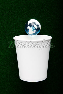 blank concept,paper cup and earth-shaped ball Stock Photo - Premium Royalty-Freenull, Code: 6106-05393645