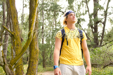 Young male hiker Stock Photo - Premium Royalty-Freenull, Code: 6106-05405058