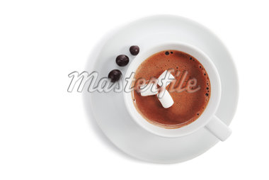 Hot Chocolate with marshmellows Stock Photo - Premium Royalty-Freenull, Code: 6106-05421582
