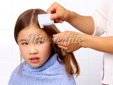 Combing for head louse Stock Photo - Premium Royalty-Freenull, Code: 6106-05493526