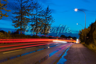 Streaking Car Lights on Road, Kopavogur, Southwest Iceland, Iceland Stock Photo - Premium Royalty-Free, Artist: Atli Mar Hafsteinsson, Code: 600-05524169