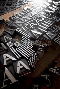 Metal Letterpress A Stock Photo - Premium Rights-Managed, Artist: Daryl Benson, Code: 700-05524386
