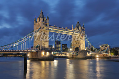 Tower Bridge at Dusk, London, England Stock Photo - Premium Rights-Managed, Artist: Martin Ruegner, Code: 700-05524578