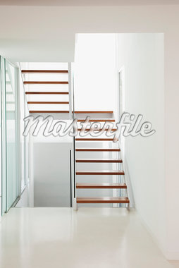 Stairs in modern house Stock Photo - Premium Royalty-Freenull, Code: 635-05550358
