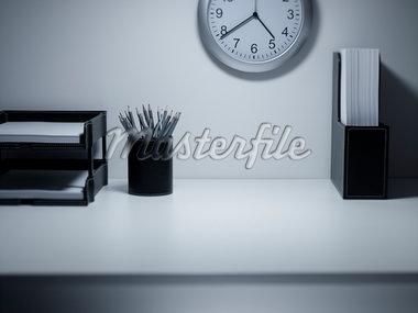 Empty office desk Stock Photo - Premium Royalty-Freenull, Code: 635-05551088