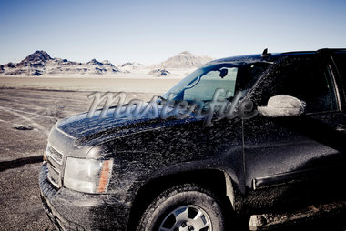 Dirty 4x4 Car Parked on the Bonneville Salt Flats Stock Photo - Premium Rights-Managed, Artist: ableimages, Code: 822-05554865