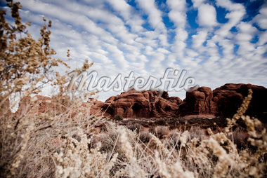 Sandstone Formations and Cloudy Blue Sky Stock Photo - Premium Rights-Managed, Artist: ableimages, Code: 822-05554982