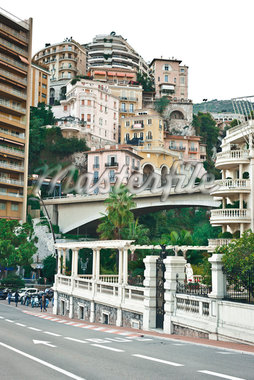 Bretelle Louis Aureglia Bridge and Hillside Architecture, Monaco, Cote d'Azur Stock Photo - Premium Rights-Managed, Artist: Matt Brasier, Code: 700-05560279