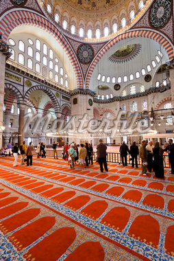 Tourists Inside Suleymaniye Mosque, Istanbul, Turkey Stock Photo - Premium Rights-Managed, Artist: R. Ian Lloyd, Code: 700-05609528