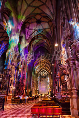 Interior of St. Stephen's Cathedral, Stephanplatz, Vienna, Austria Stock Photo - Premium Rights-Managed, Artist: R. Ian Lloyd, Code: 700-05609874