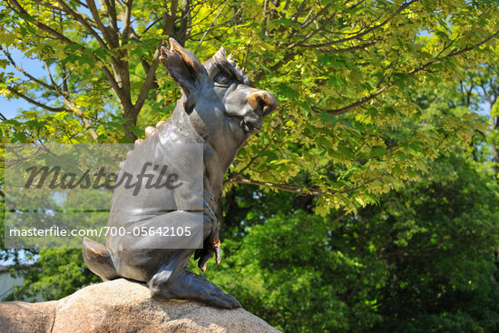 Sculpture, Hexentanzplatz, Thale, Harz District, Saxony Anhalt, Germany Stock Photo - Premium Rights-Managed, Artist: Raimund Linke, Code: 700-05642105