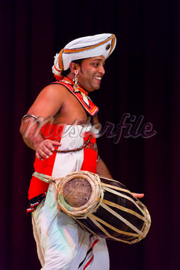 Drummer at Sri Lankan Cultural Dance Performance, Kandy, Sri Lanka Stock Photo - Premium Rights-Managed, Artist: R. Ian Lloyd, Code: 700-05642249