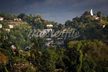 Hillside Buildings and Sitting Buddha, Kandy, Sri Lanka Stock Photo - Premium Rights-Managed, Artist: R. Ian Lloyd, Code: 700-05642256